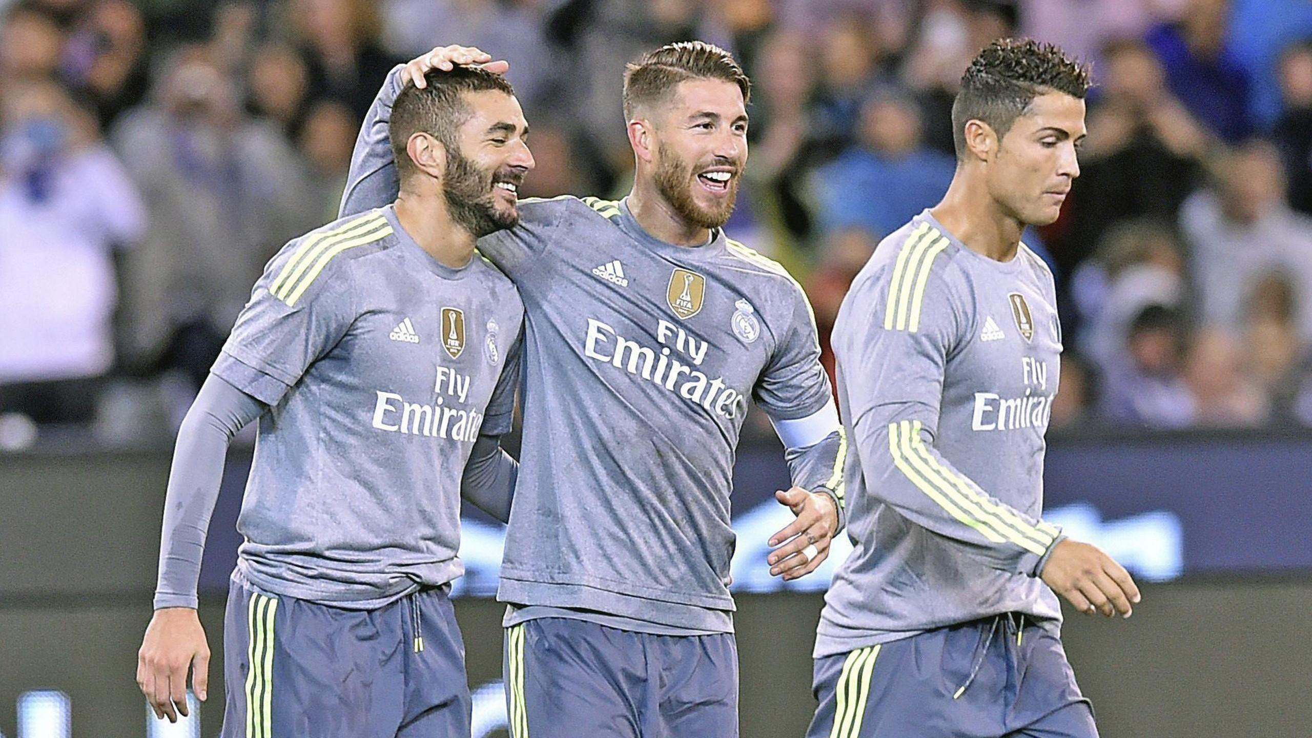 Real Madrid stars (L-R) Karim Benzema, Sergio Ramos and Cristiano Ronaldo are all expected to stay