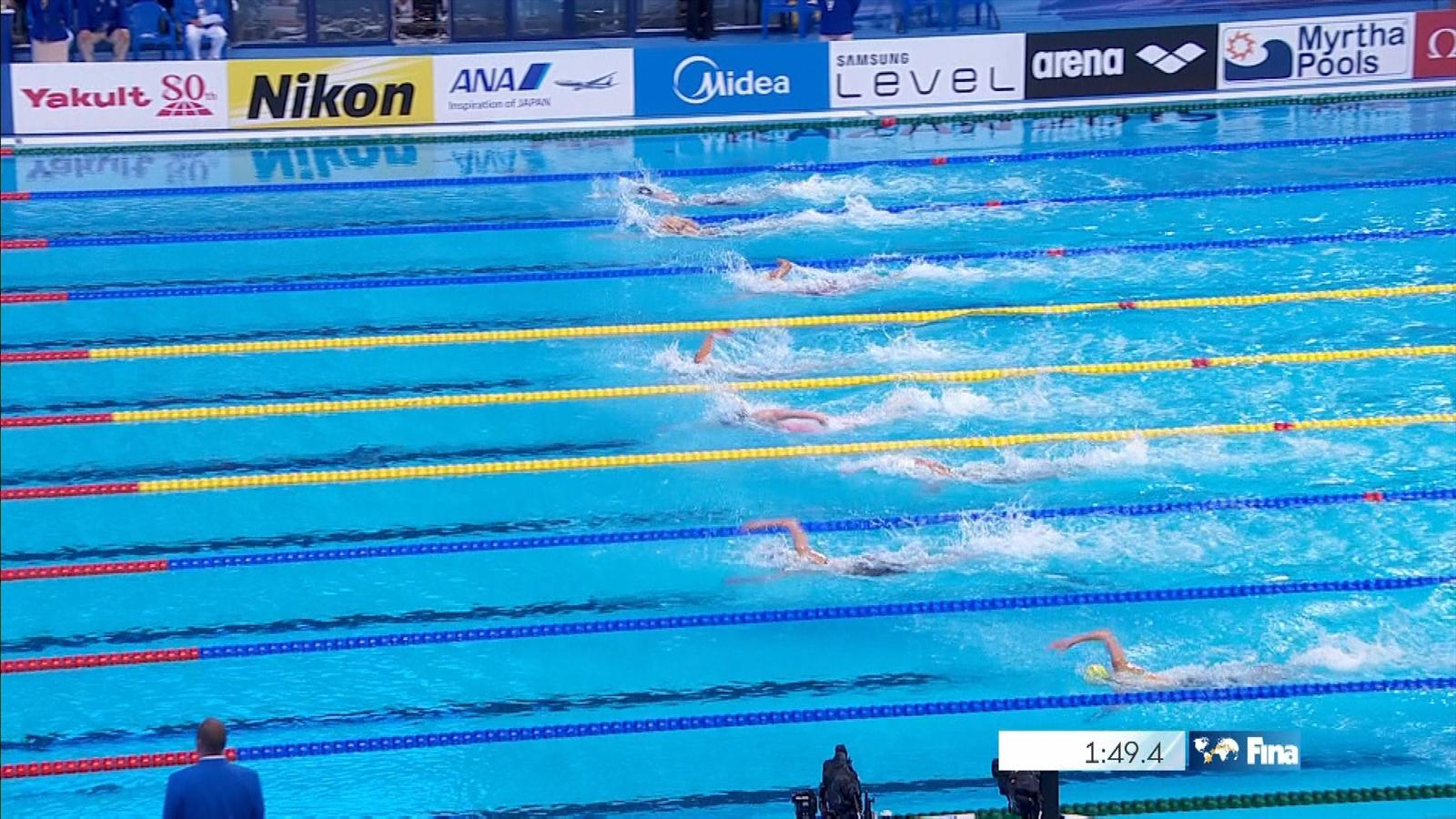 VIDEO - Katie Ledecky claims third gold medal - World ...