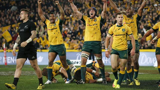 Australia stun All Blacks to win Rugby Championship