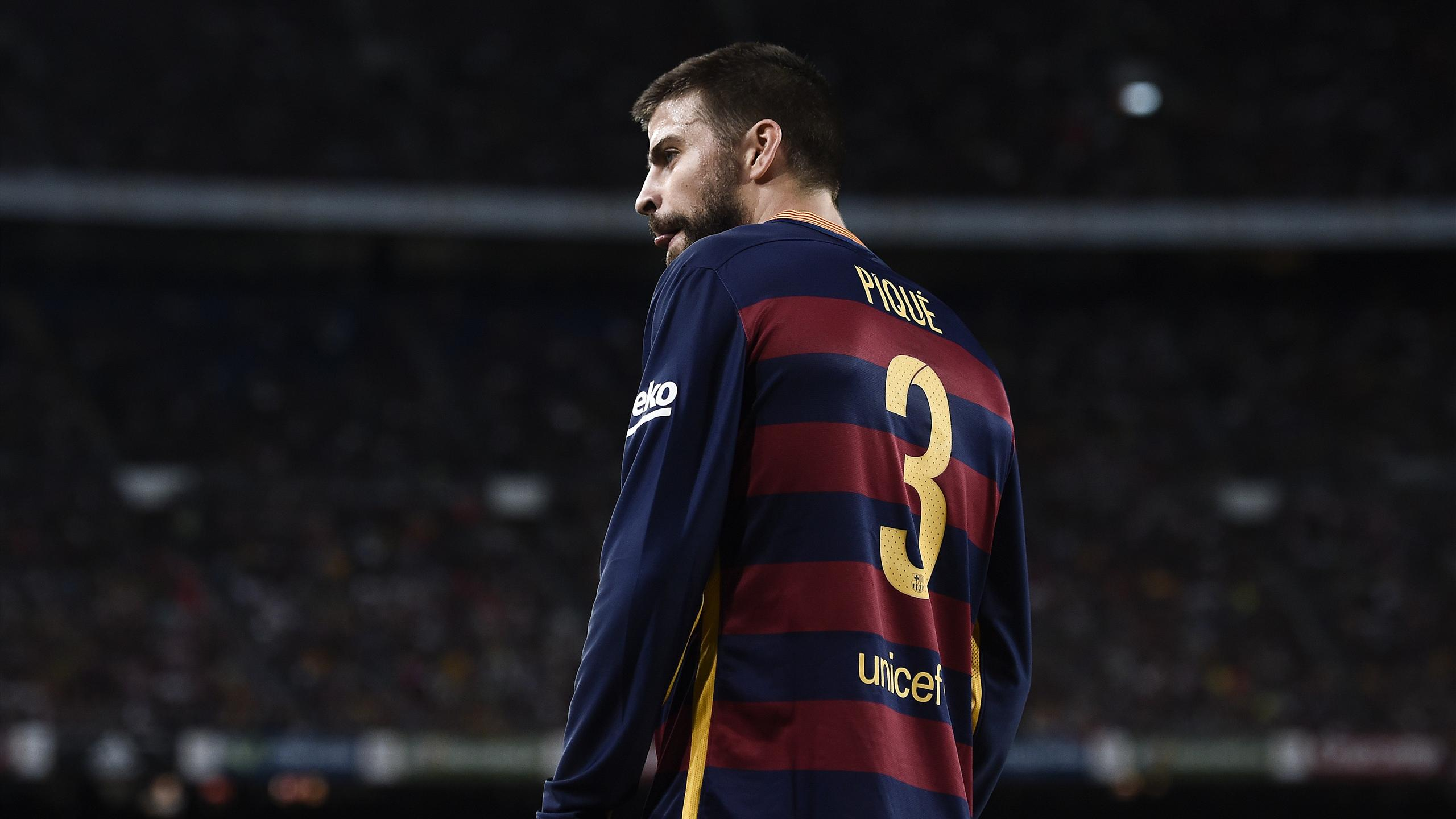 Barcelona's Gerard Pique was sent off against Athletic Bilbao
