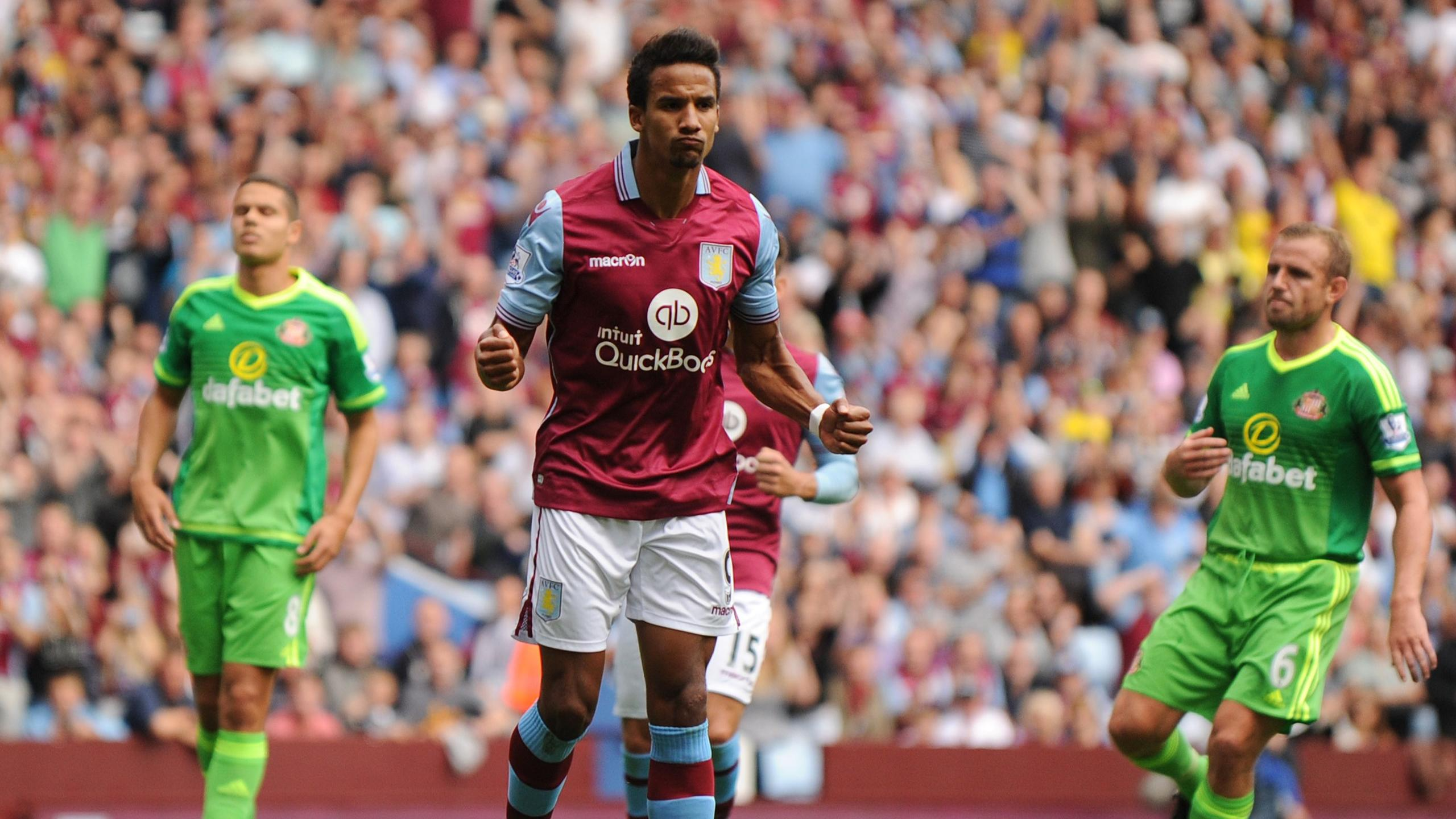 Aston Villa's Scott Sinclair celebrates