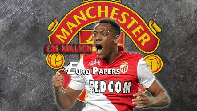 Euro Papers: Anthony Martial agrees £36m Manchester United move
