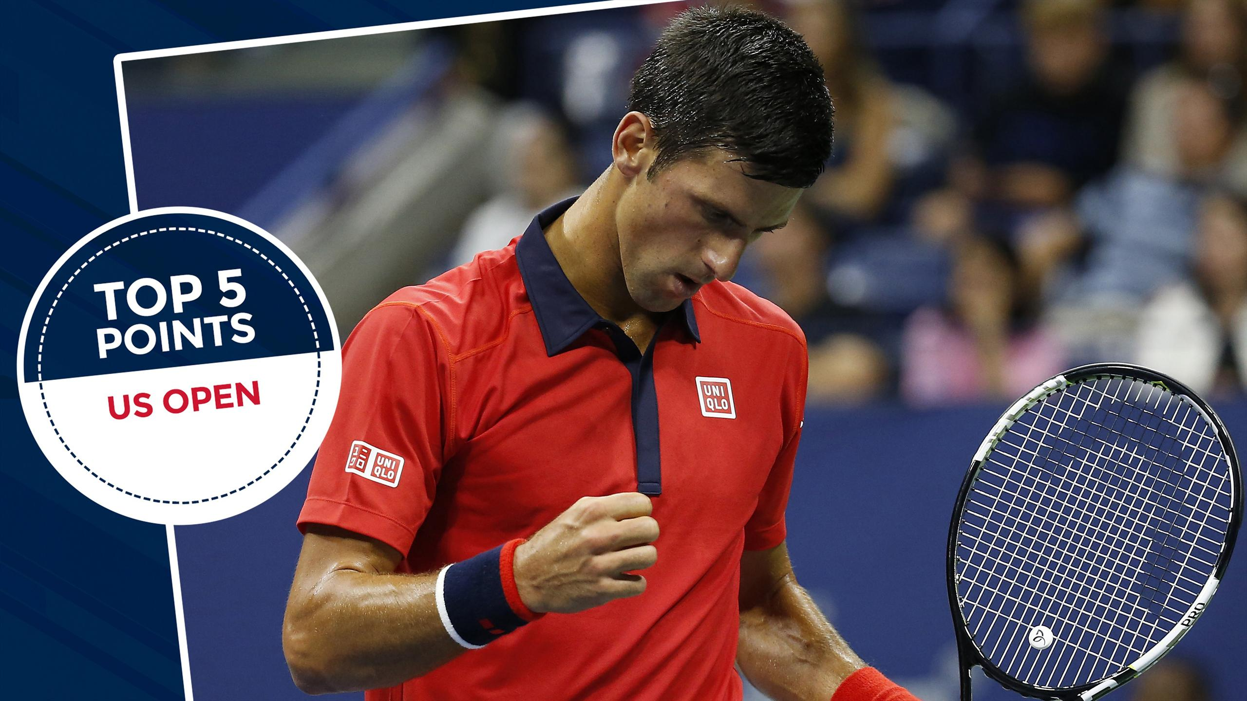Top 5 points: Djokovic turns on the style; Fognini pulls off epic trick shot