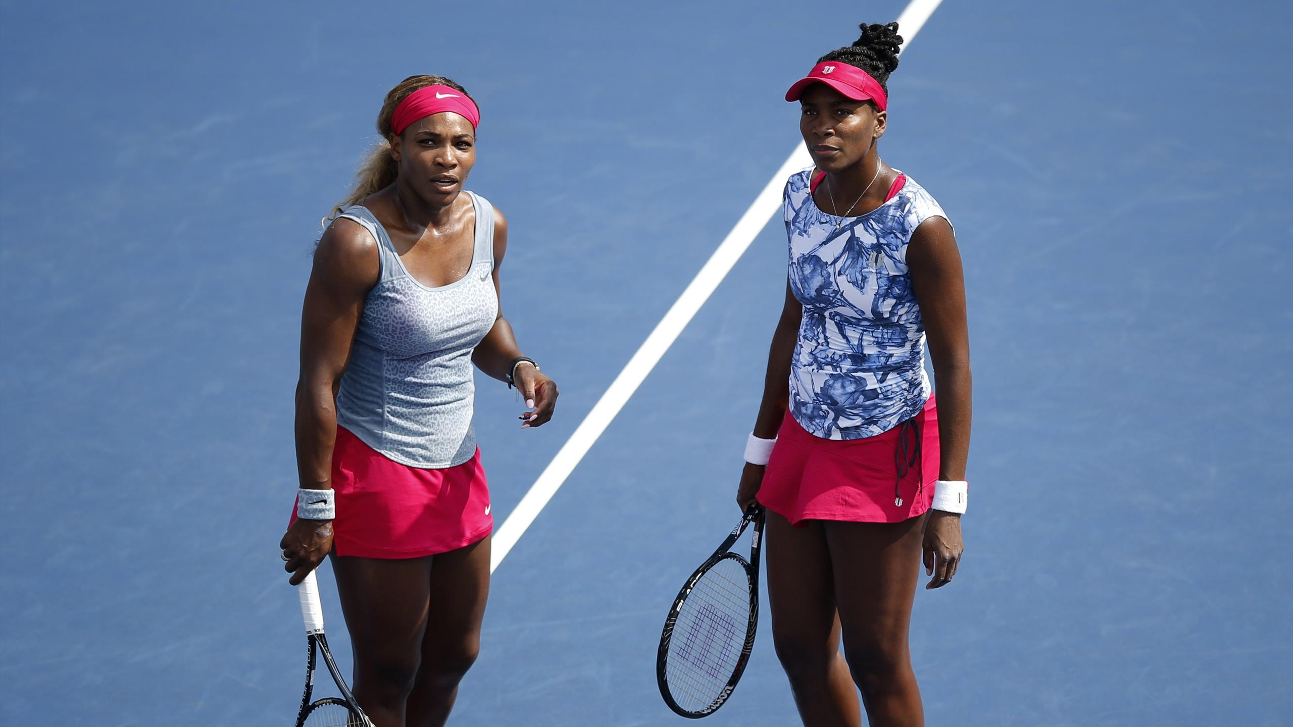Serena and Venus Williams on the court together