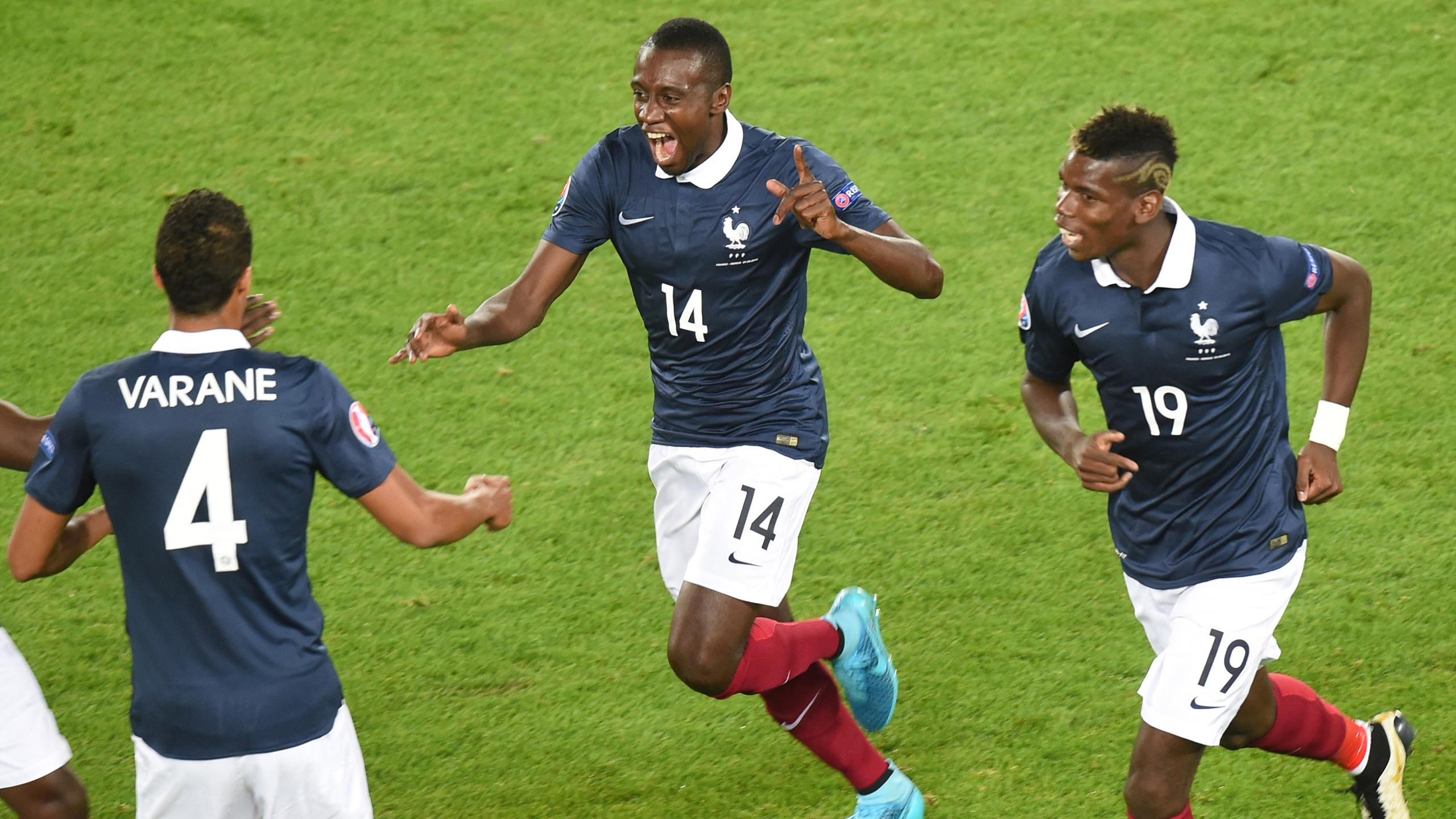 Blaise Matuidi après son 2e but lors de France - Serbie en match amical