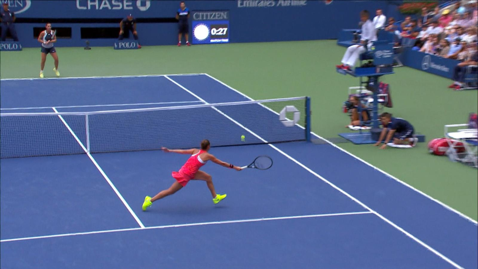 Video roberta vinci 39 s dazzling volley display us open - British basketball league table ...