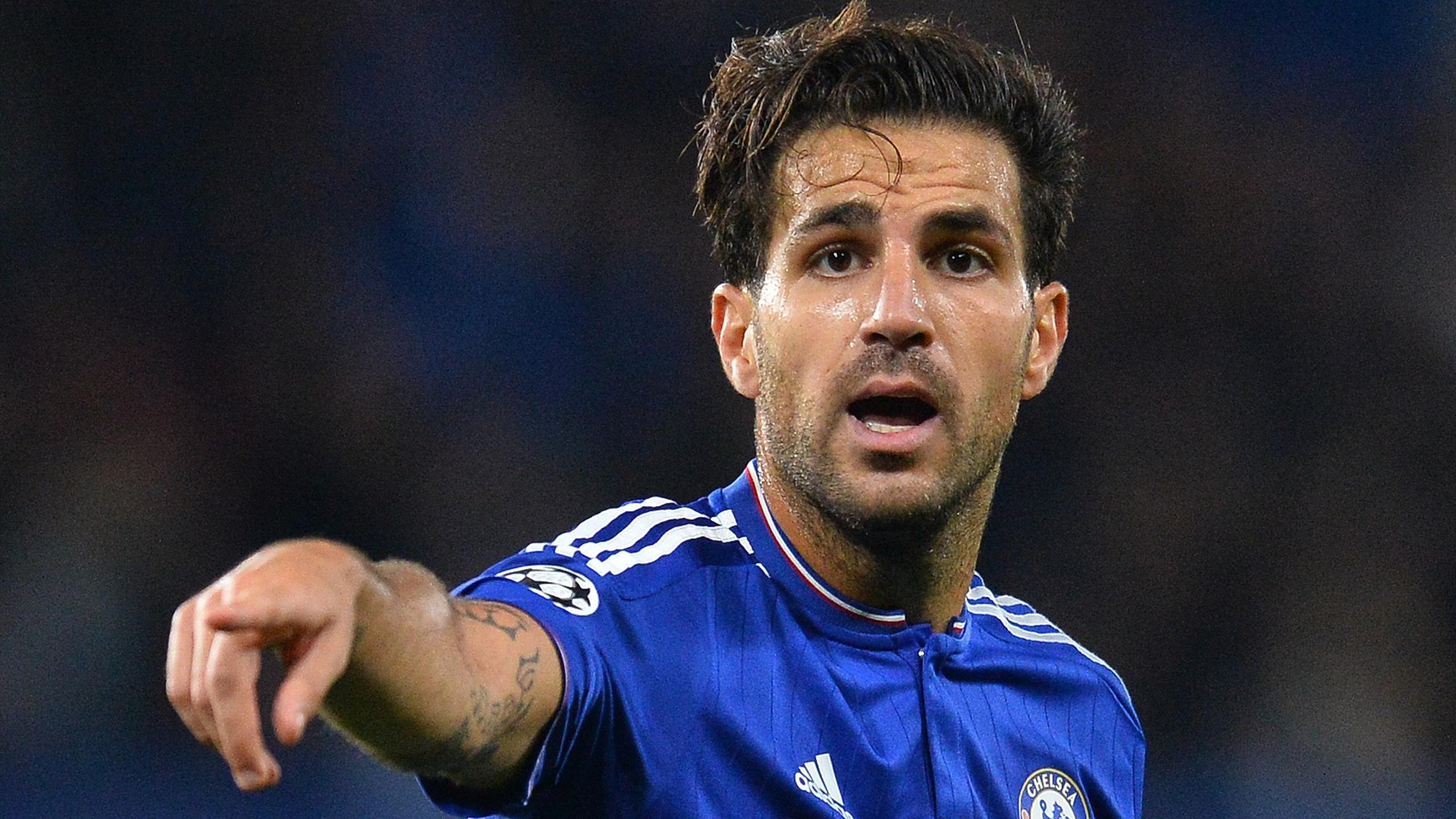 Chelsea's Spanish midfielder Cesc Fabregas gestures during the UEFA Champions League, group G, football match between Chelsea and Maccabi Tel Aviv at Stamford Bridge in London on September 16, 2015.