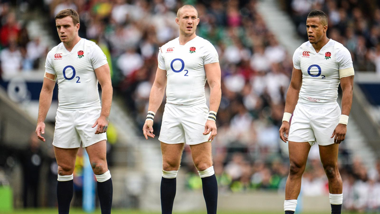 George Ford, Mike Brown et Anthony Watson - Angleterre, septembre 2015
