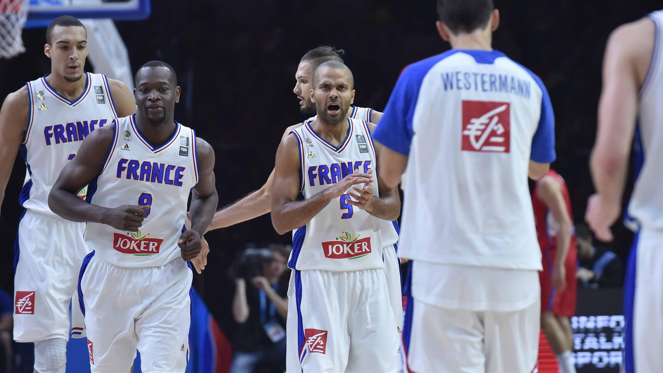 Tony Parker pendant France-Serbie