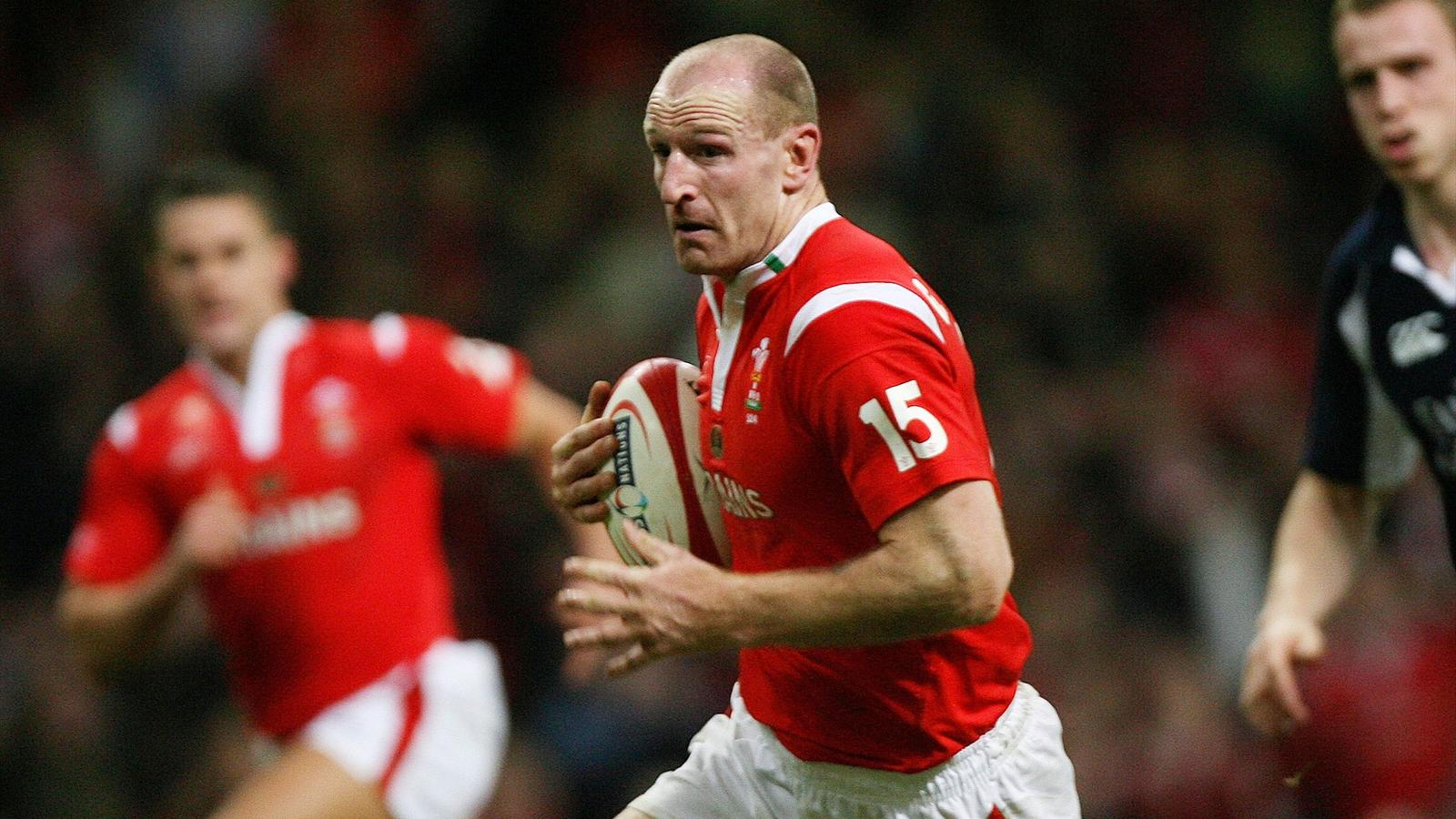 Gareth Thomas in action for Wales