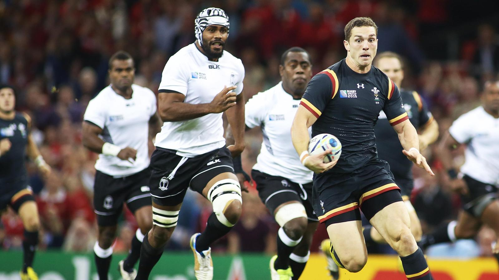 George North (pays de Galles) face aux Fidji - 1er octobre 2015