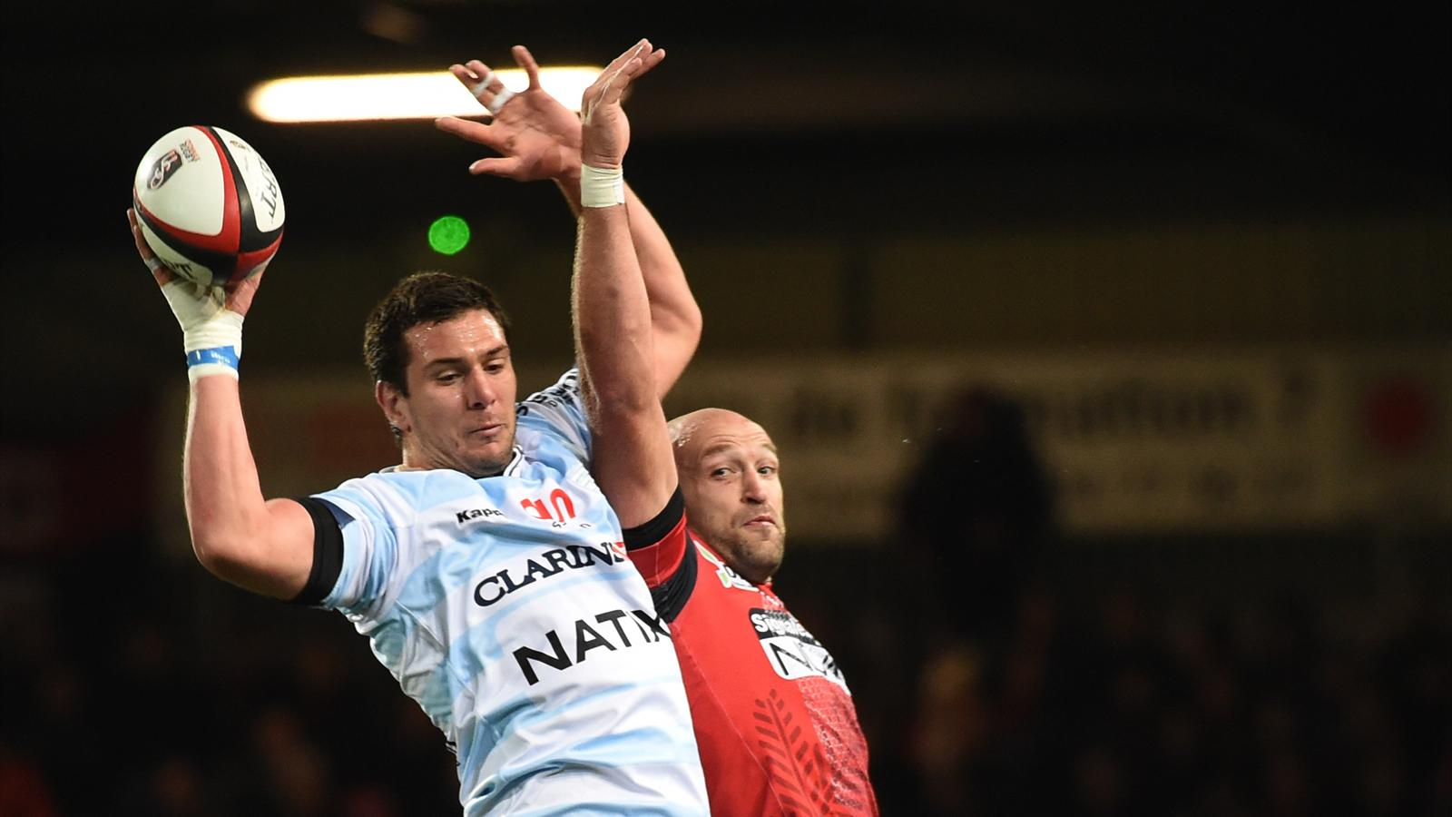 Manuel Carizza (Racing) face à Oyonnax - 16 octobre 2015