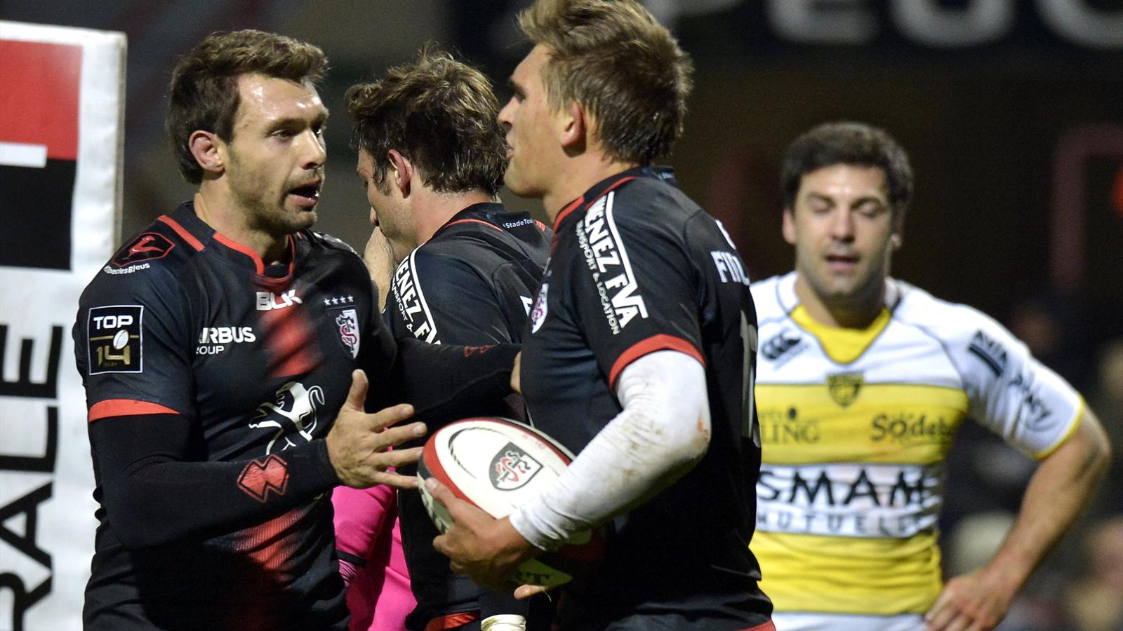 Vincent Clerc et Toby Flood (Toulouse) face à la Rochelle - 16 octobre 2015