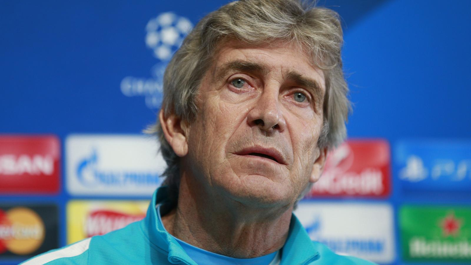 Manchester City manager Manuel Pellegrini during a press conference