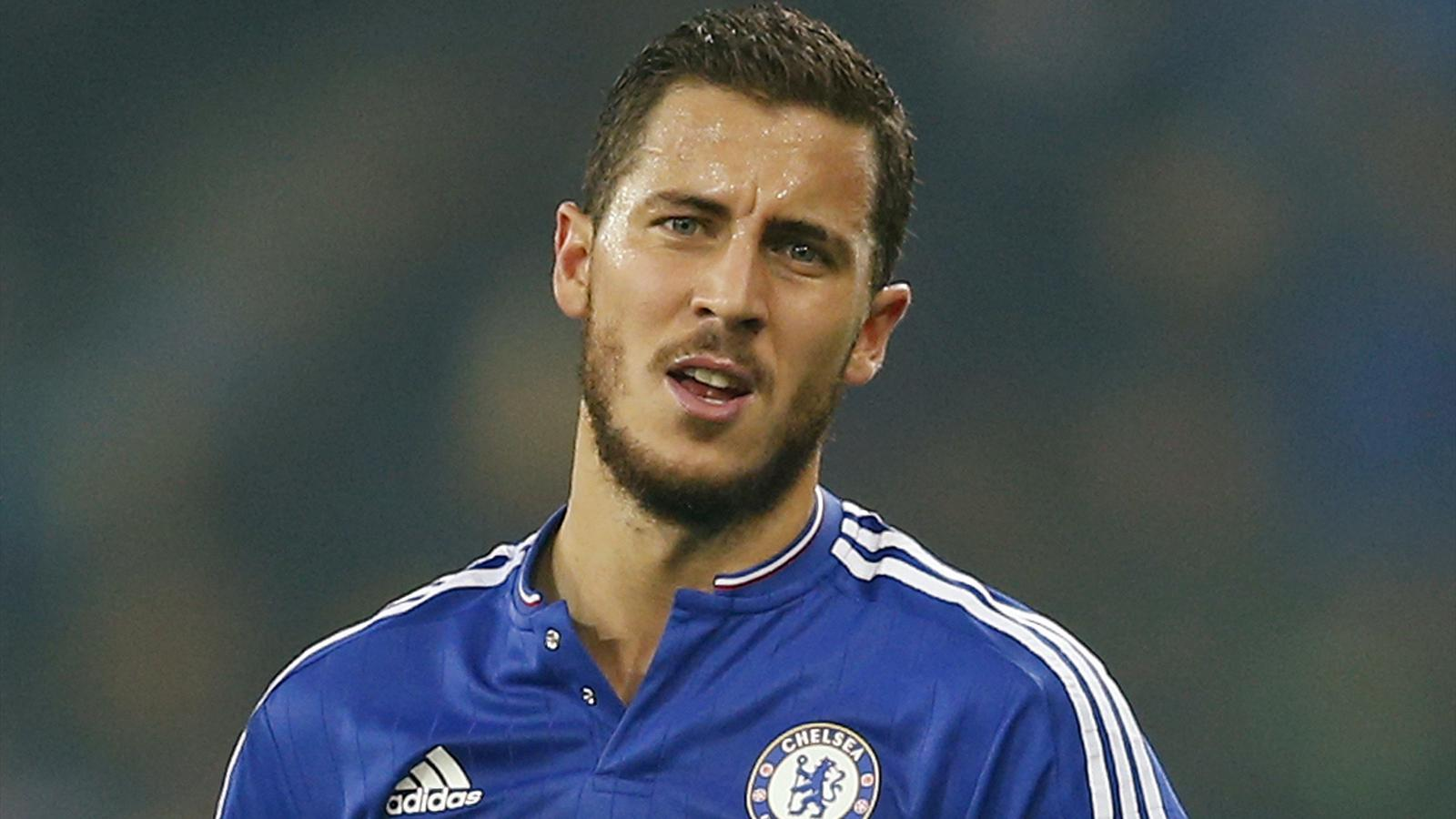 Chelsea star Eden Hazard looks frustrated