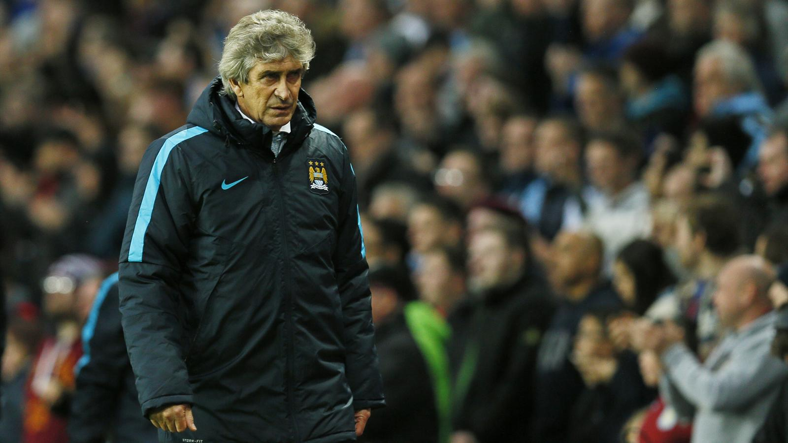 Manchester City manager Manuel Pellegrini during the 4-1 defeat to Liverpool