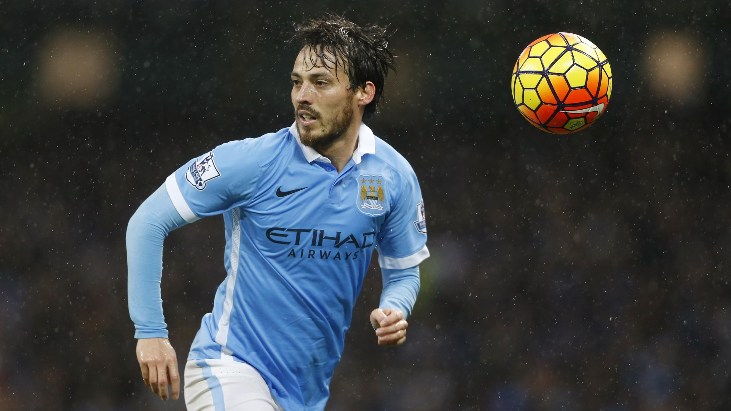 Manchester City David Silva in action against Swansea City