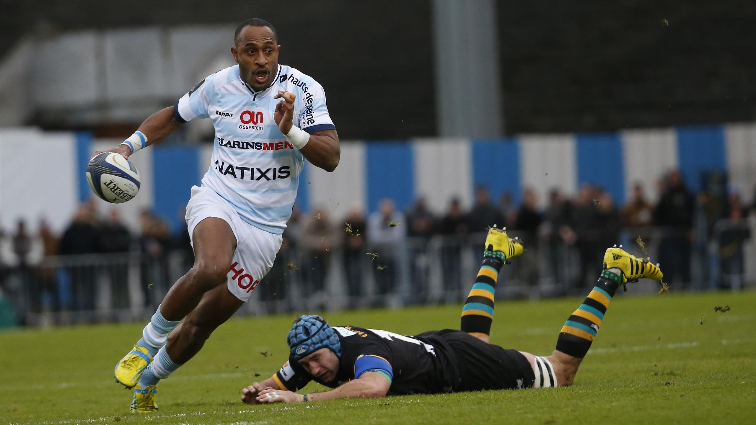 Joe Rokocoko (Racing 92) face à Northampton - 12 décembre 2015