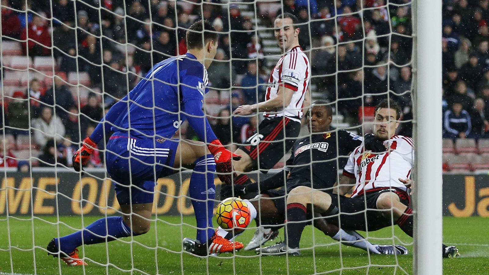 Odion Ighalo scores for Watford against Sunderland