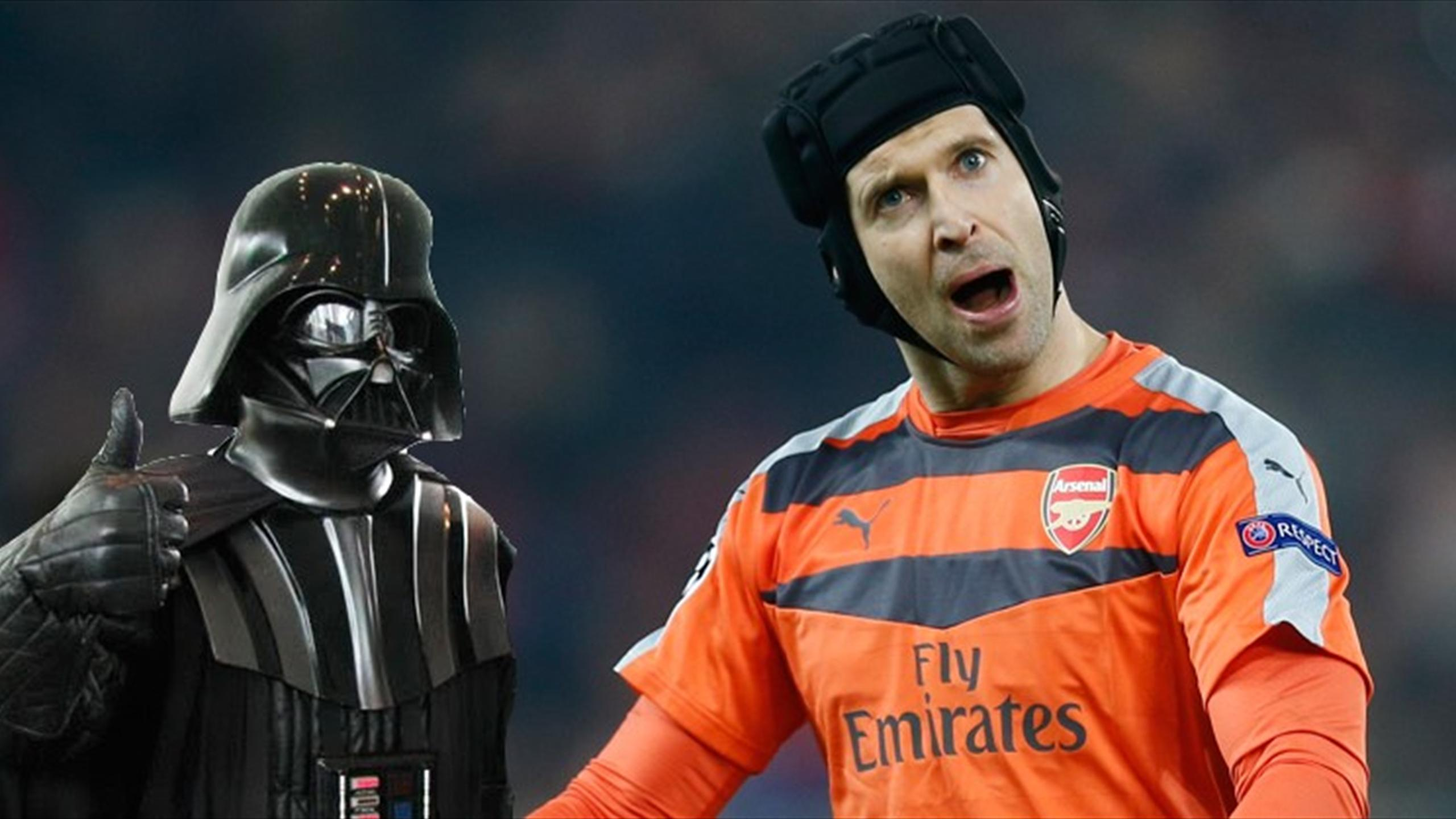 Arsenal goalkeeper Petr Cech 'with' Darth Vader