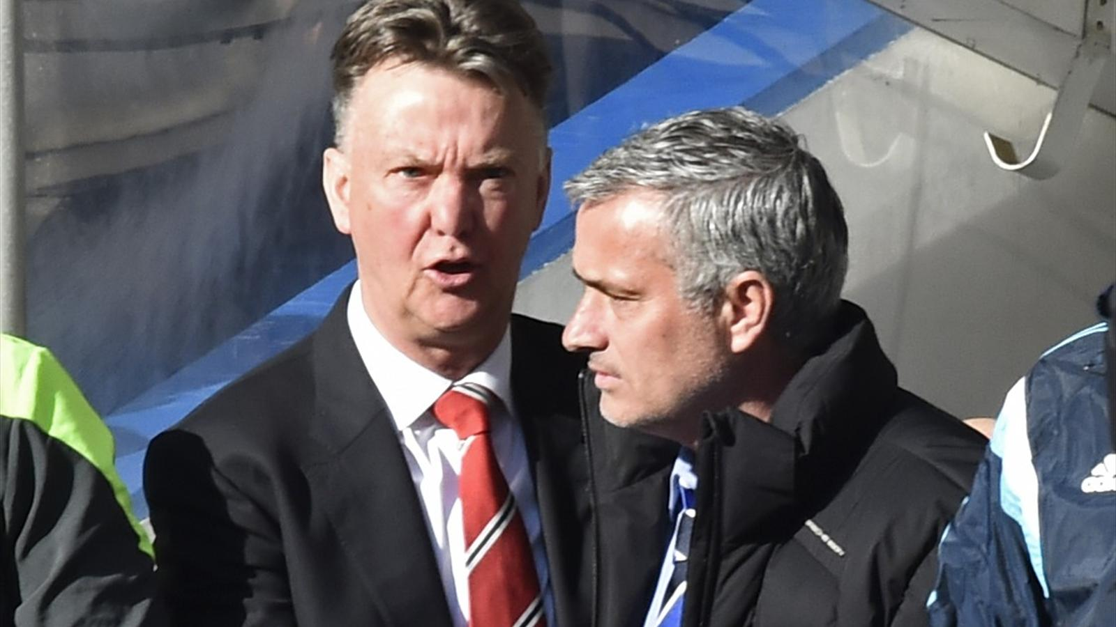 Louis van Gaal and Jose Mourinho