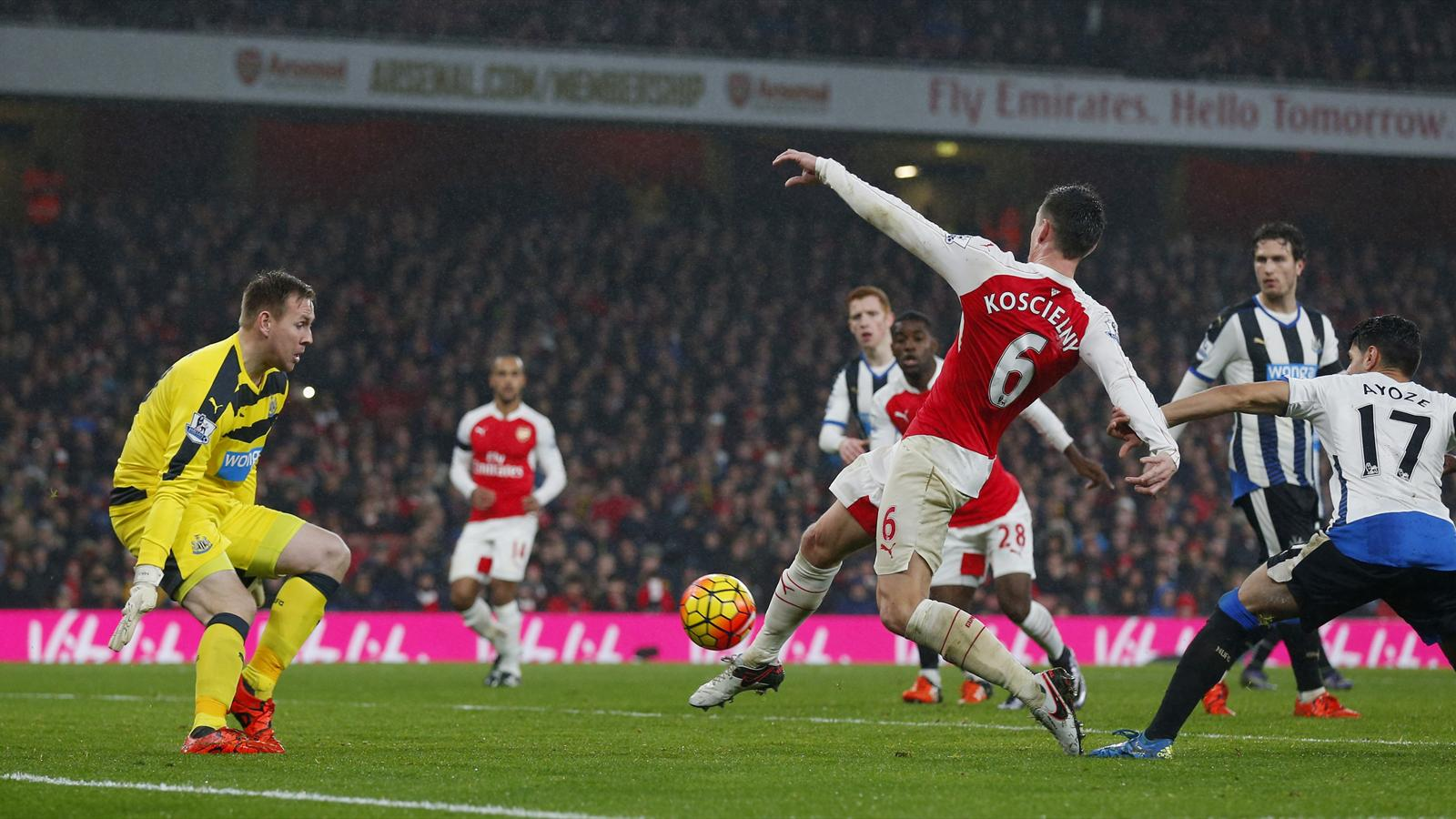 Laurent Koscielny scores Arsenal's winner against Newcastle