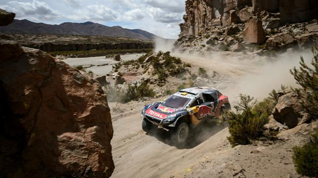 Peterhansel s'impose, Peugeot domine et Loeb reste leader