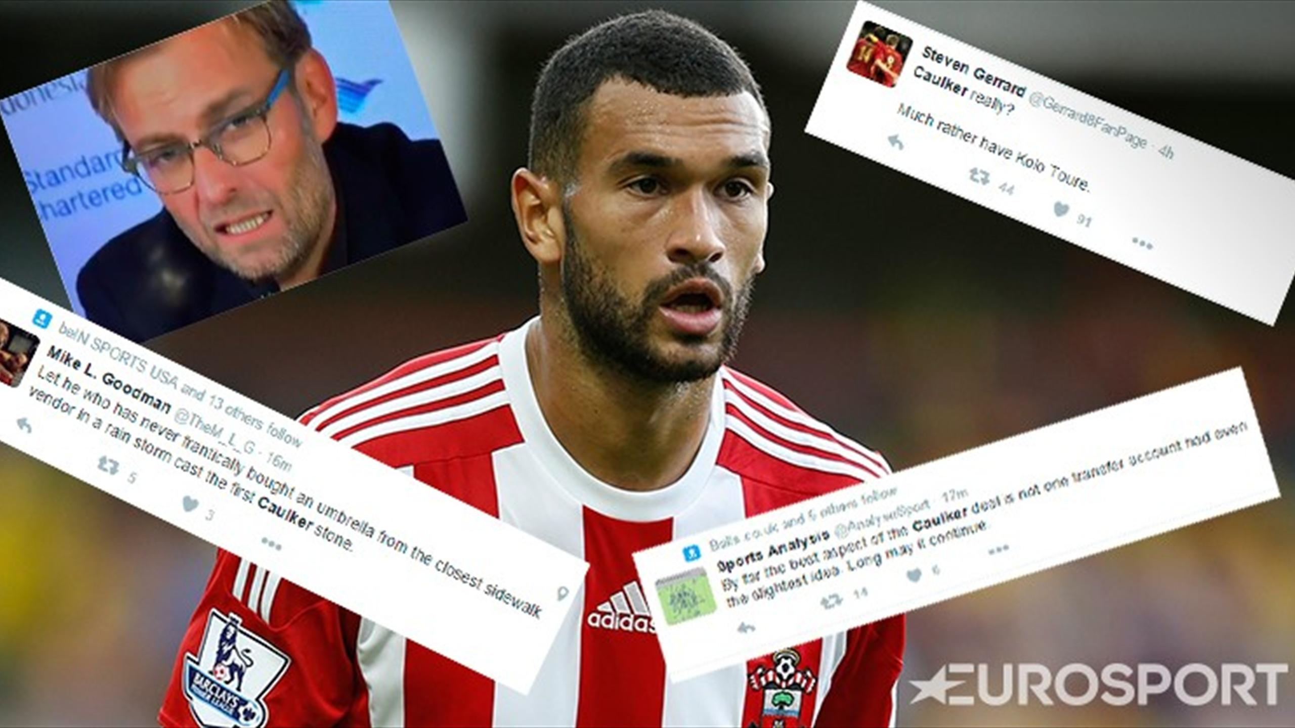 Steven Caulker joins Liverpool and fans are not happy (Twitter)