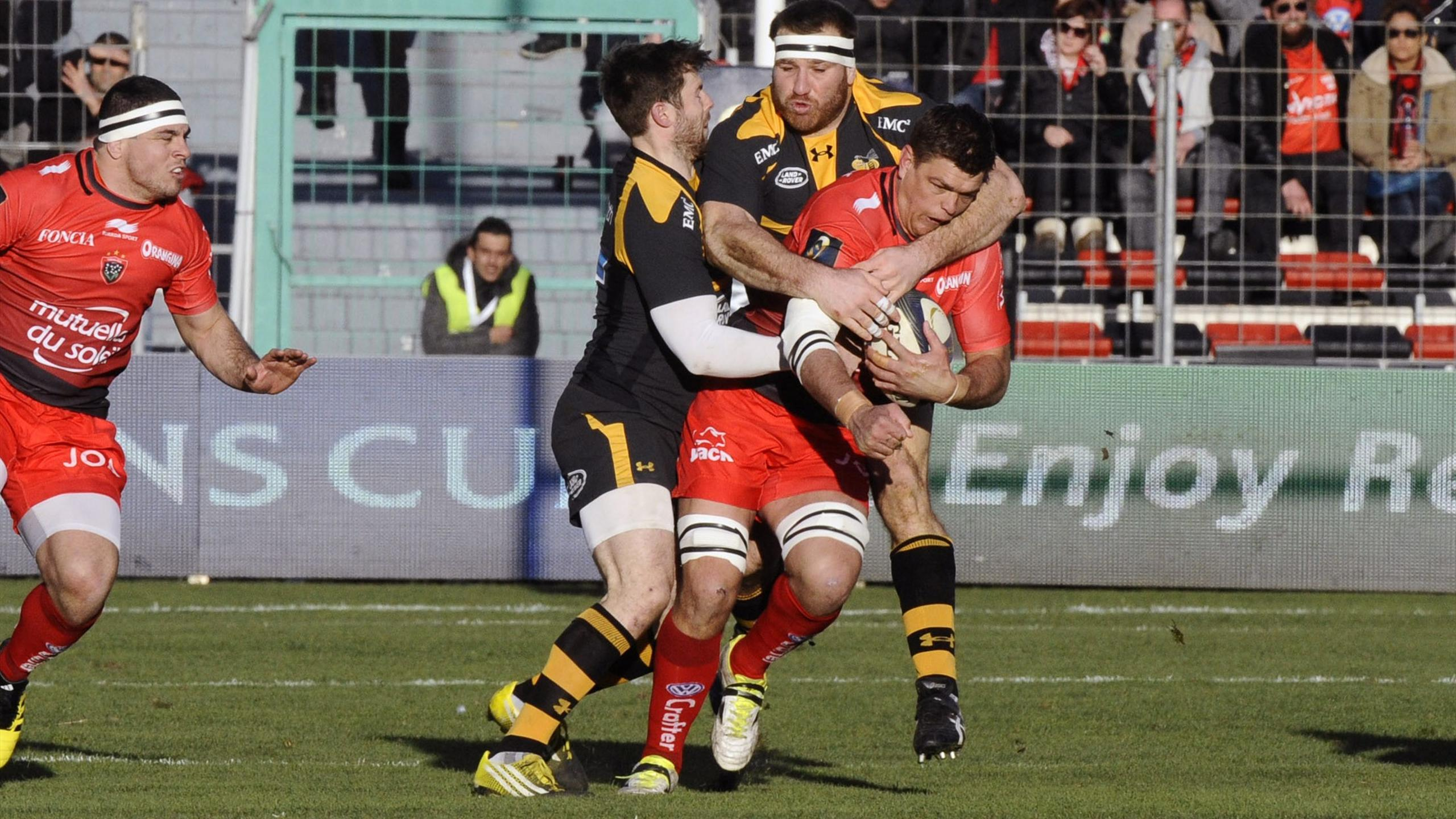 Juan Smith (Toulon) face aux Wasps - 17 janvier 2016