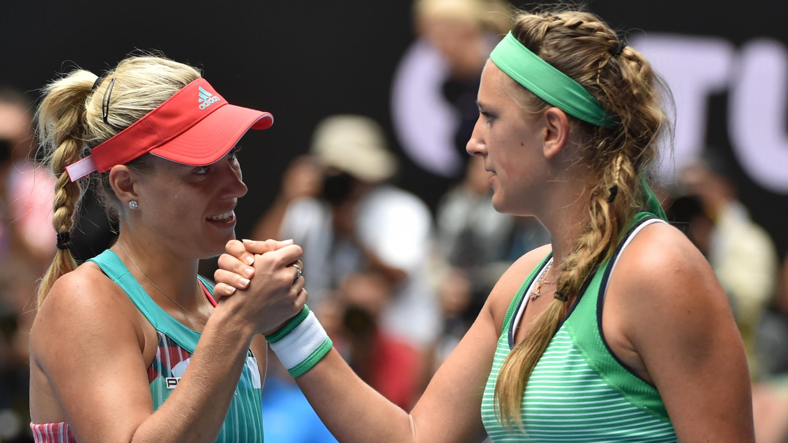 Victoria Azarenka and Angelique Kerber - Australian Open 2016