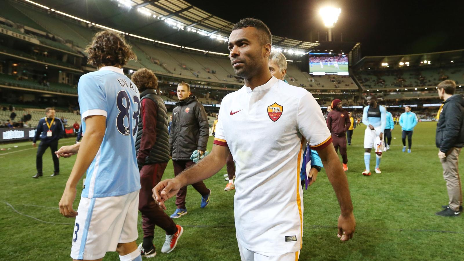 Ashley Cole walks off