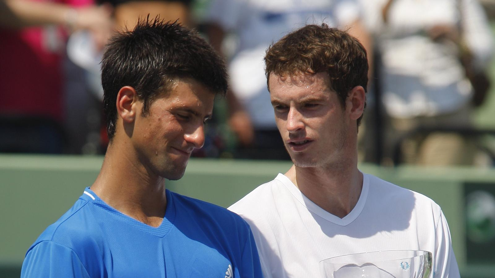 Novak Djokovic and Andy Murray in 2009