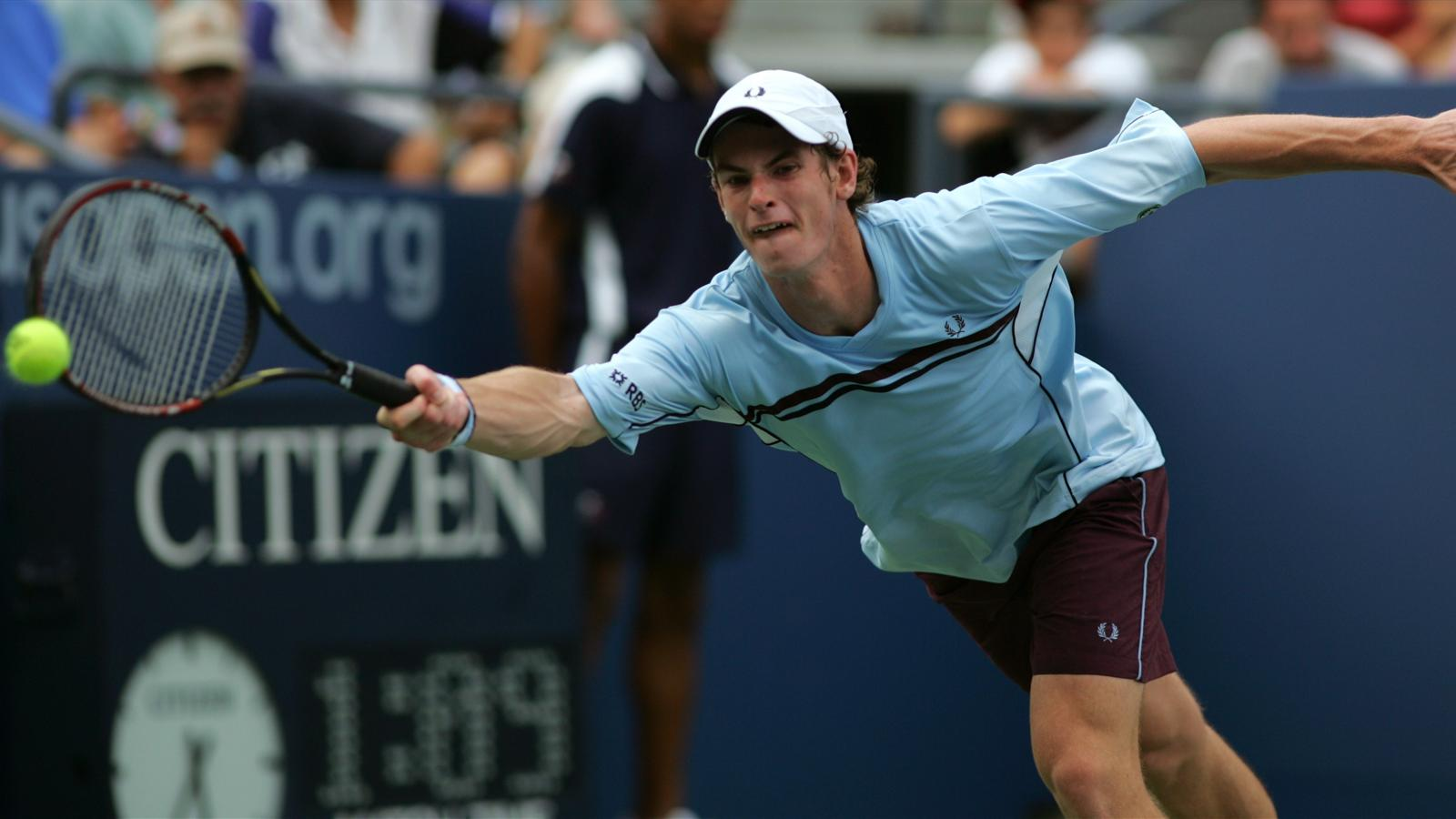 Andy Murray in his first US Open appearance in 2005