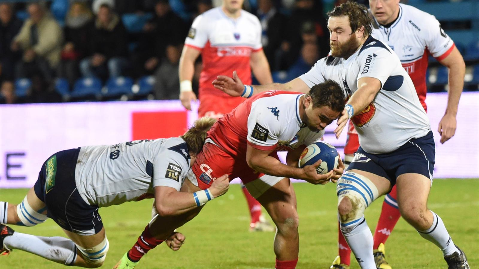 Nigel Hunt (Grenoble) face à Agen - 30 janvier 2016