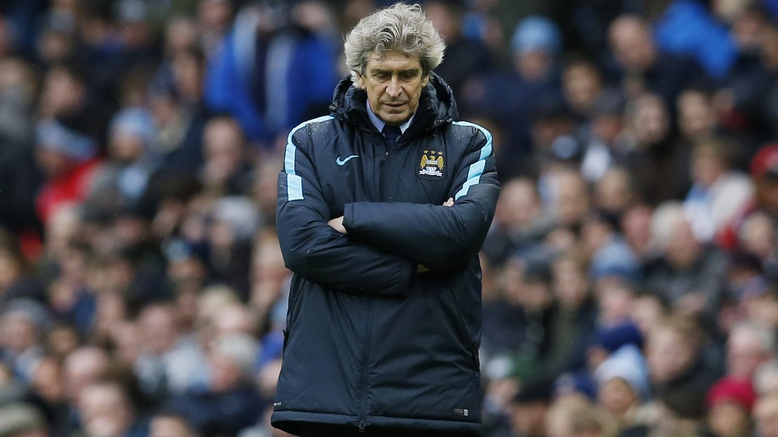 Manchester City manager Manuel Pellegrini during the match against Leicester