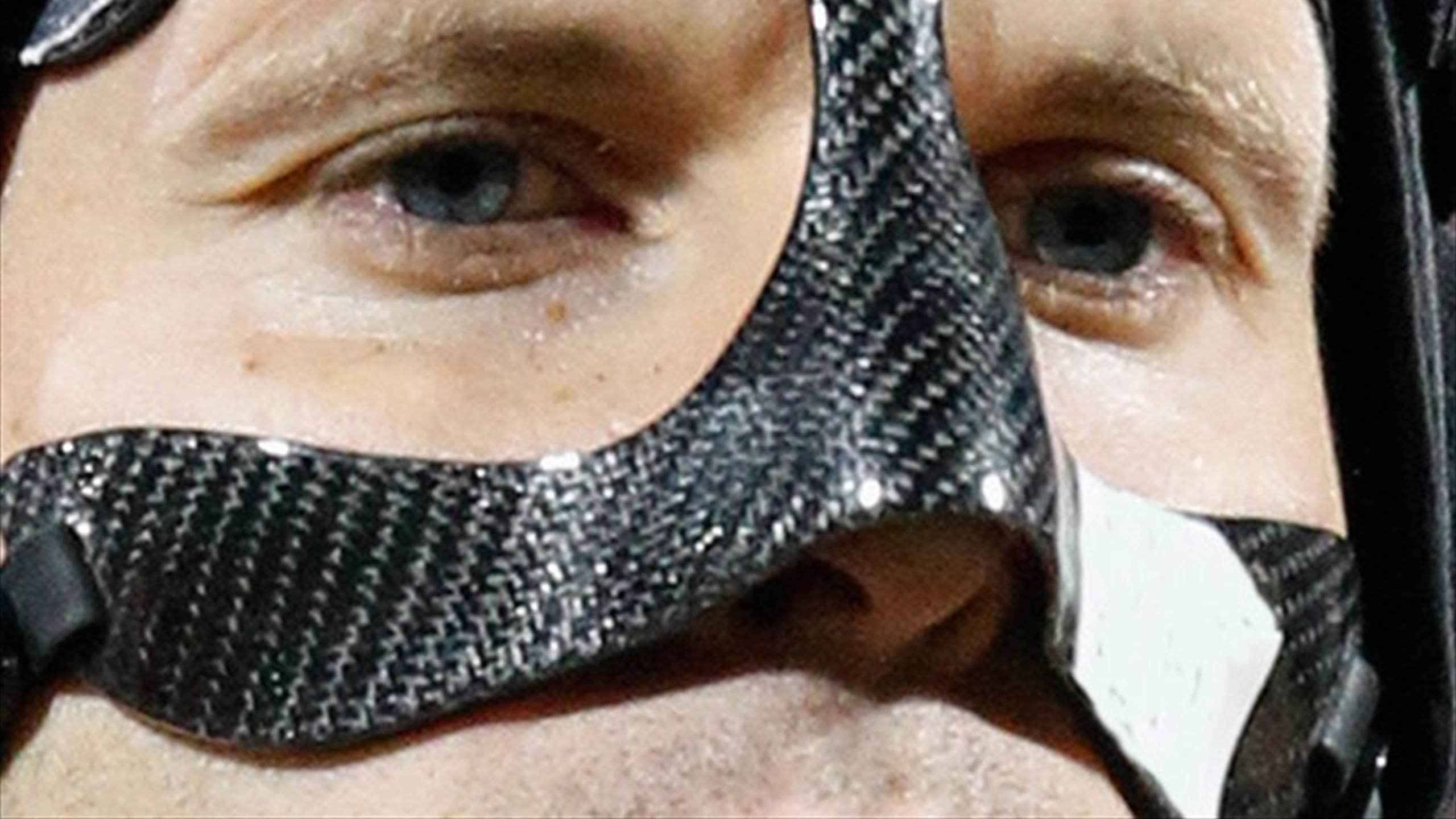 Petr Cech with his mask