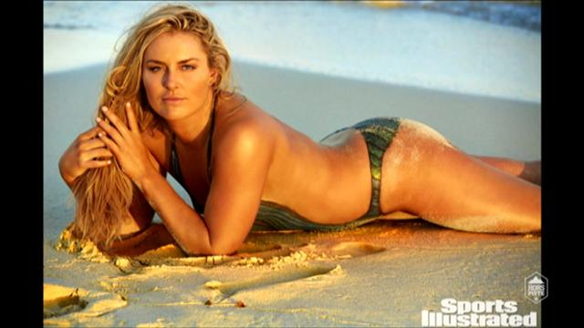 Pour Sport Illustrated, Vonn a posé en body painting