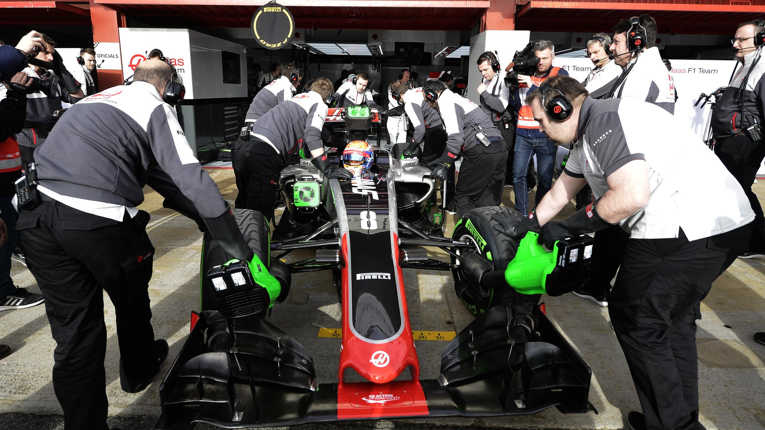 Romain Grosjean (Haas) - Montmelo Tests 2016
