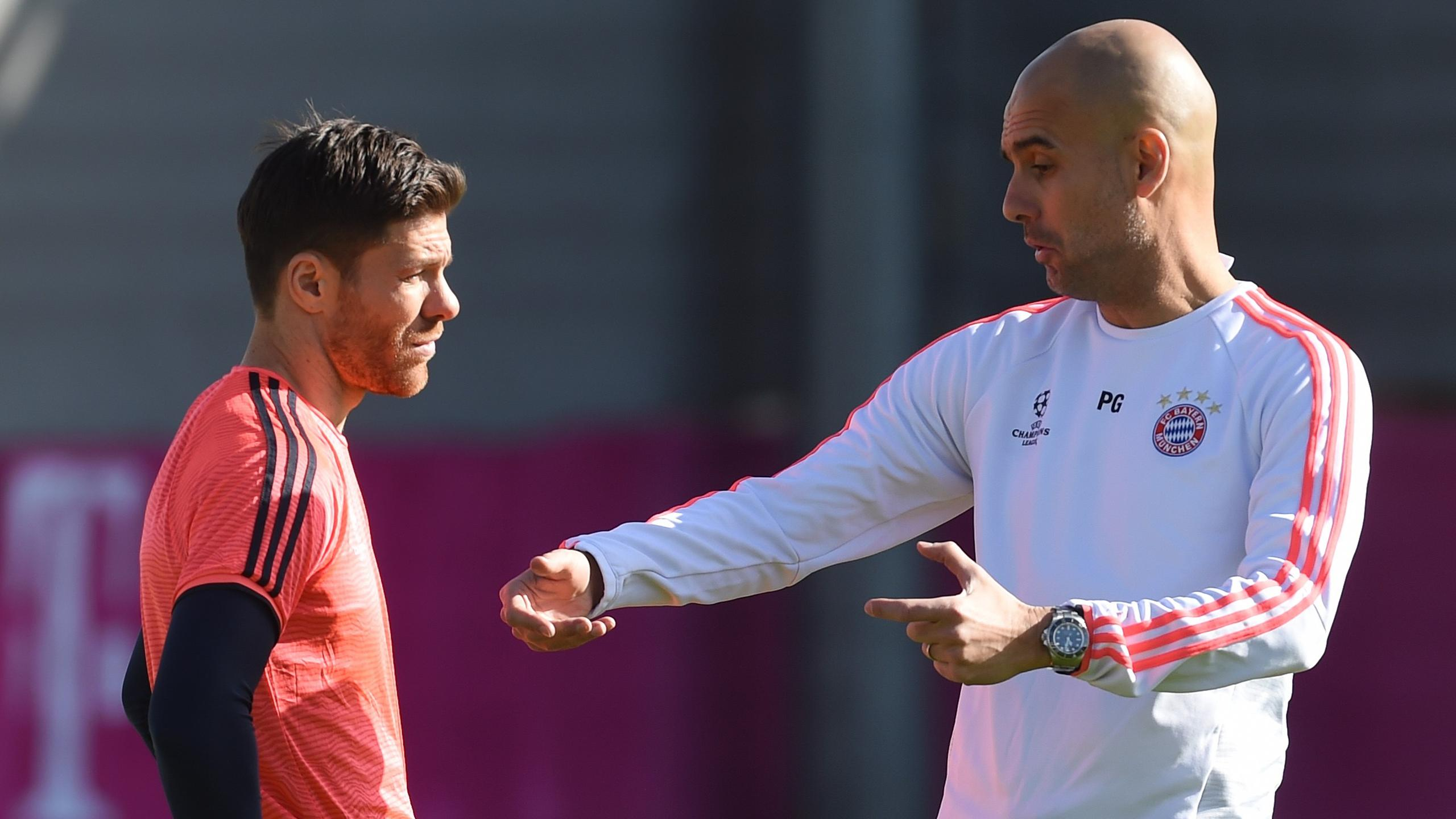 Xabi Alonso and Pep Guardiola - Bayern 2015/2016