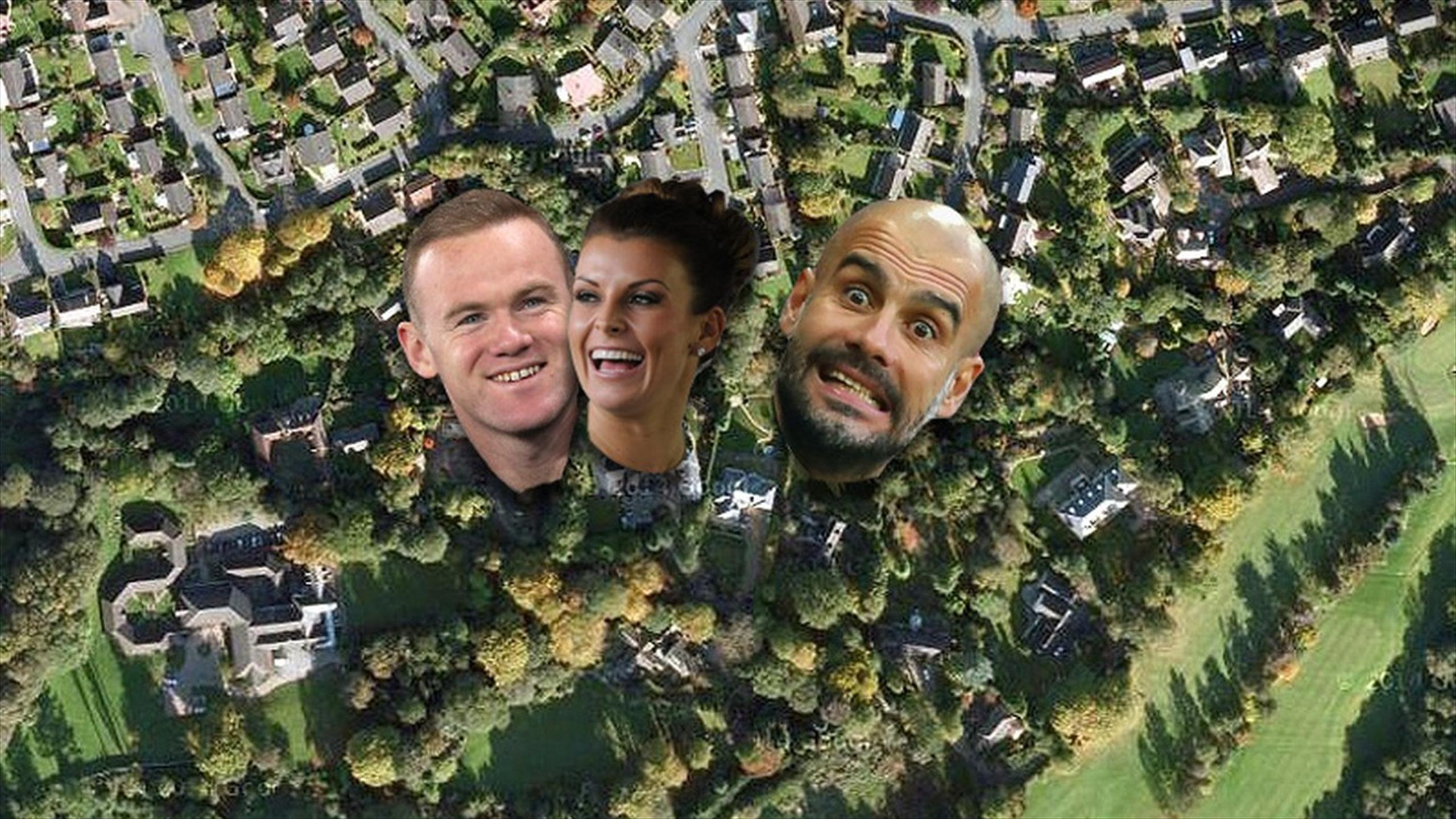 Wayne and Coleen Rooney and Pep Guardiola