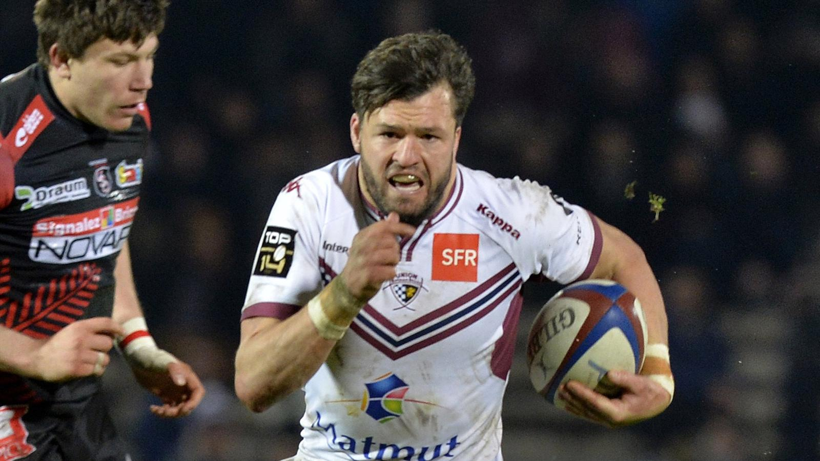 Adam Ashley-Cooper (Bordeaux-Bègles) face à Oyonnax - 5 mars 2016
