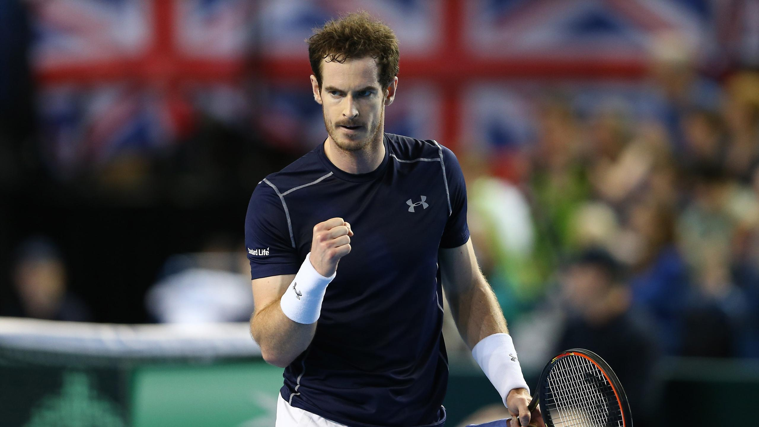 Britain's Andy Murray in Davis Cup action
