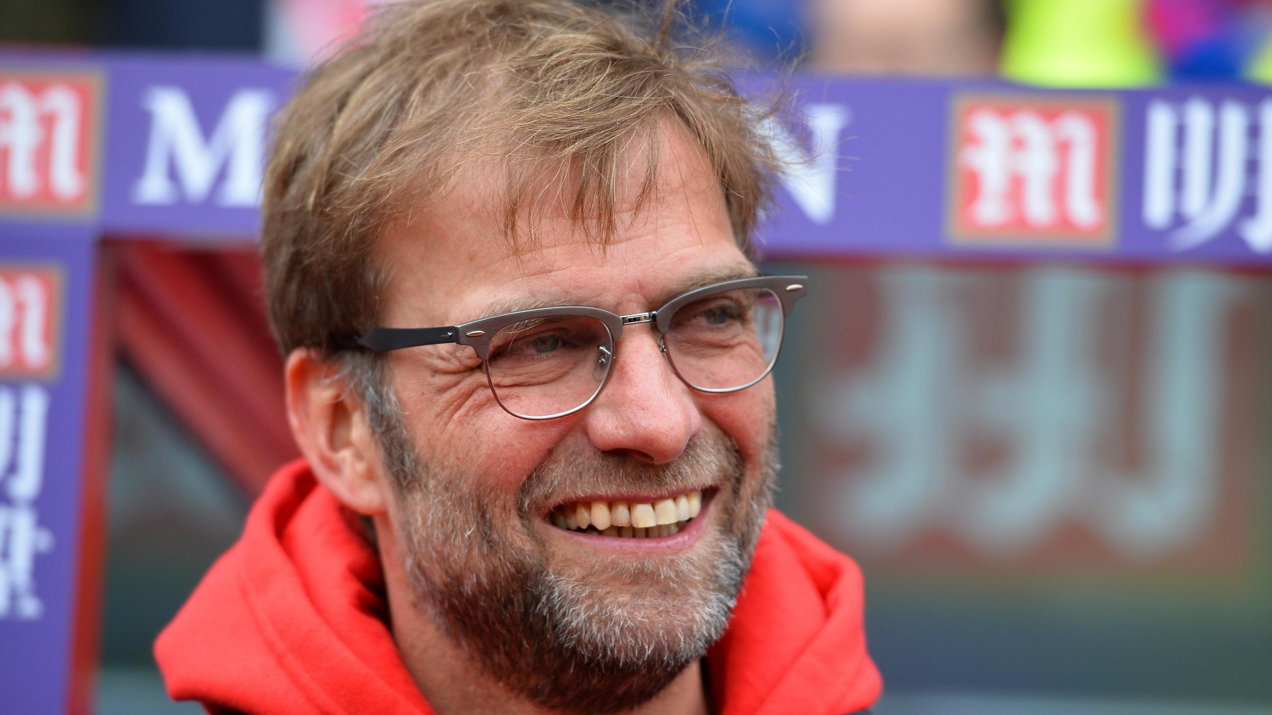 Liverpool's German manager Jurgen Klopp smiles ahead of the English Premier League football match between Crystal Palace and Liverpool