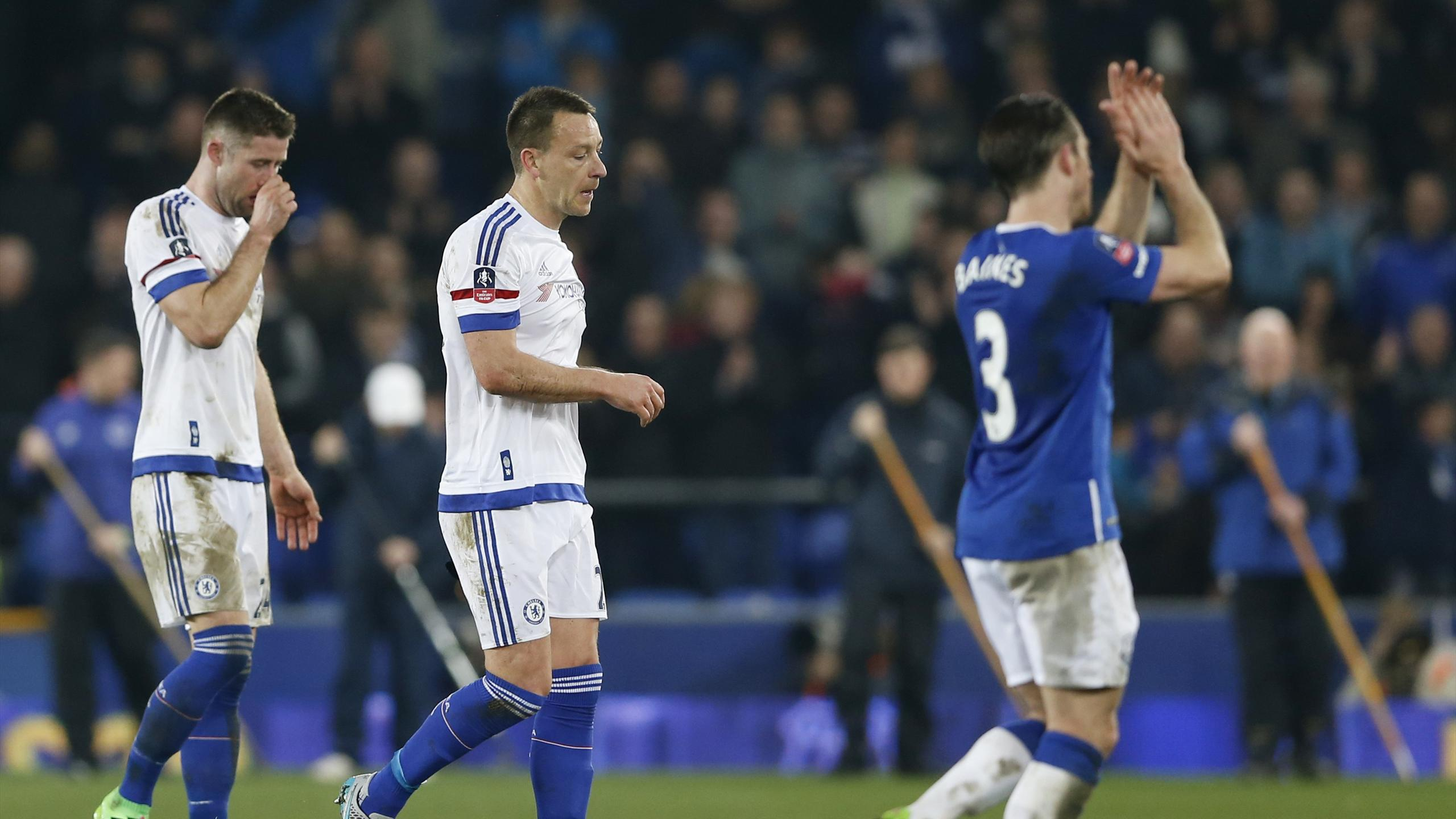 Chelsea's Gary Cahill and John Terry look dejected at the end of the game