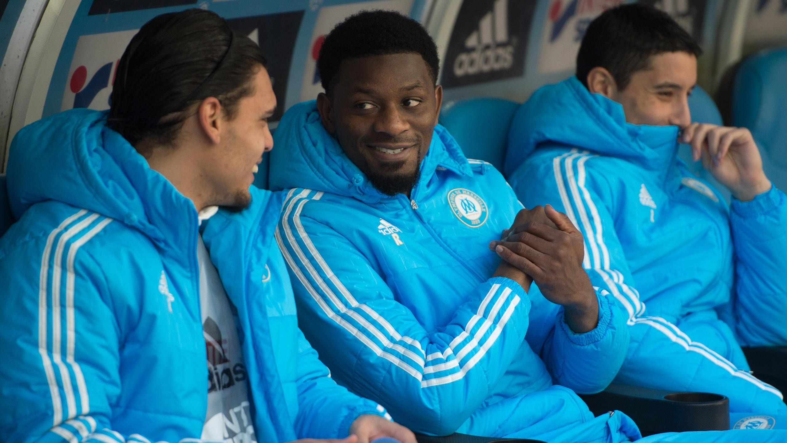 Abou Diaby on the bench for Olympique Marseille