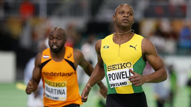 Powell makes statement of intent with blistering 60m run