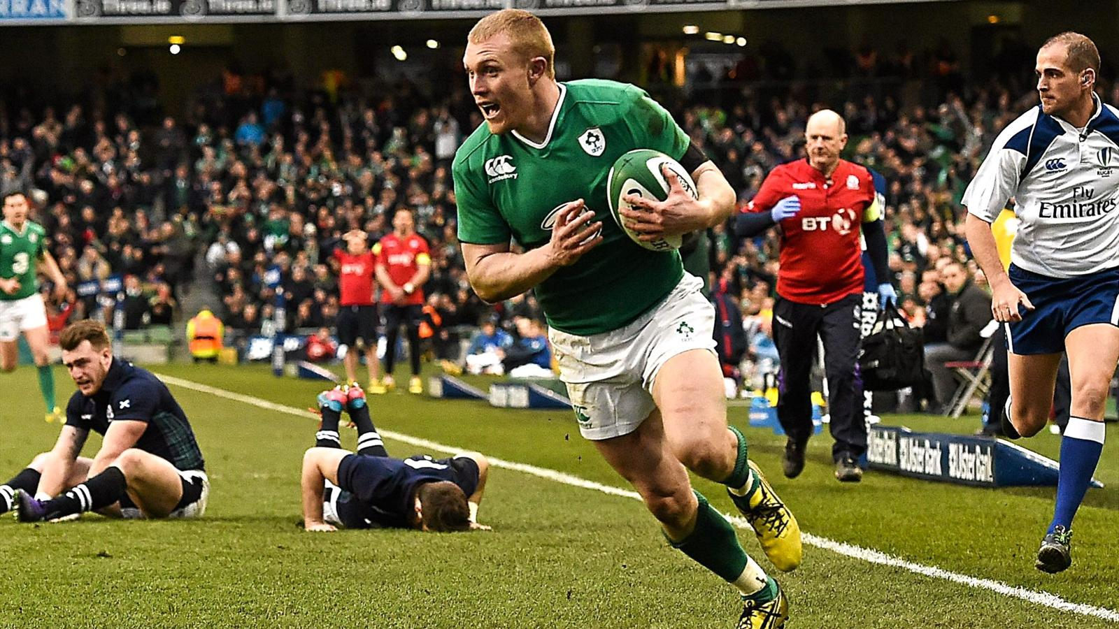 Keith Earls (Irlande) face à l'Ecosse - 19 mars 2016