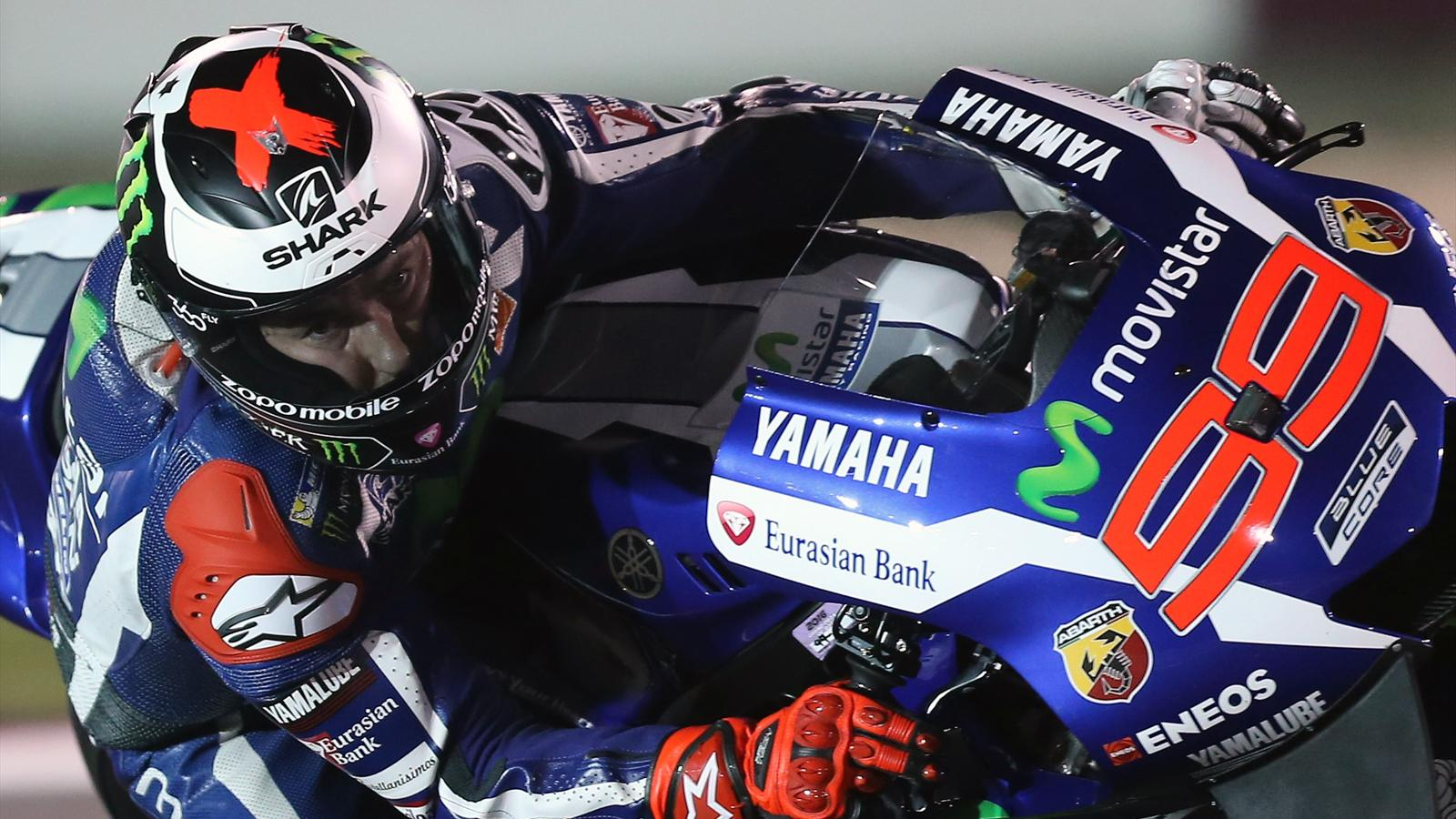 jorge lorenzo yamaha remporte la course motogp grand prix du qatar 2016 moto eurosport. Black Bedroom Furniture Sets. Home Design Ideas
