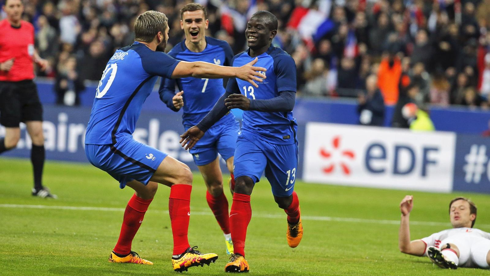 N'Golo Kante and Dimitri Payet score as France cruise past Russia - International friendlies ...