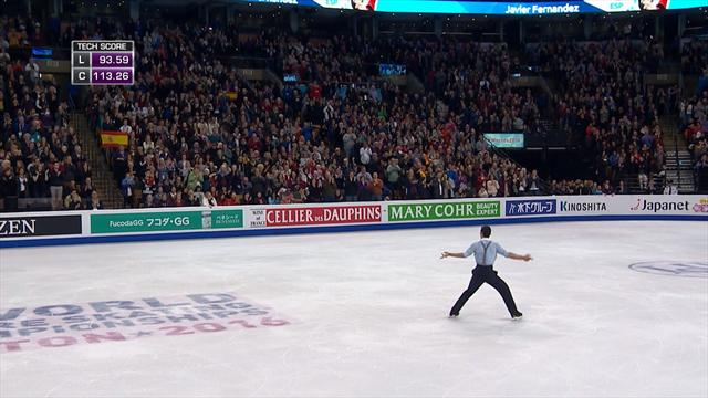 Fernandez pulls off spectacular skate to retain title